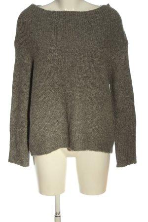 Zara Knit Szydełkowany sweter khaki Melanżowy W stylu casual