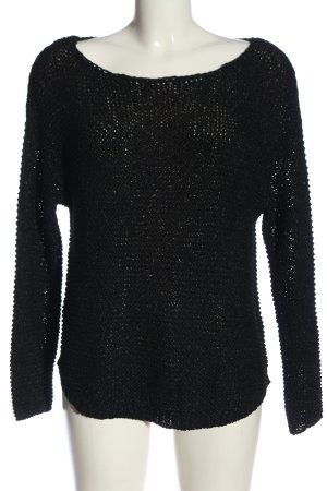 Zara Knit Gehaakte trui zwart casual uitstraling