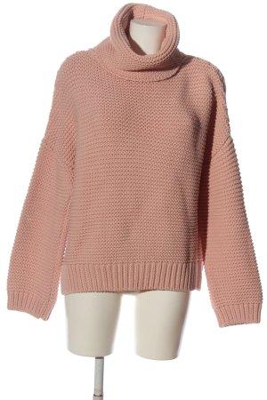 Zara Knit Crochet Sweater pink casual look