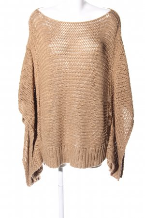 Zara Knit Crochet Shirt brown cable stitch extravagant style