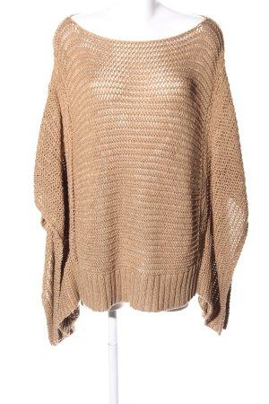 Zara Knit Crochet Shirt brown cable stitch extravagant style