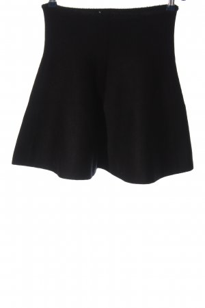 Zara Knit High Waist Rock schwarz Casual-Look