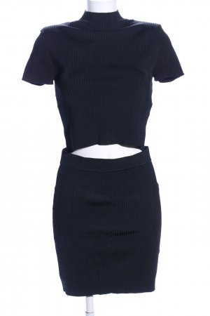 Zara Knit Jersey Twin Set schwarz Casual-Look