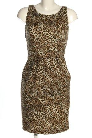 Zara Knit Jerseykleid Leomuster Casual-Look