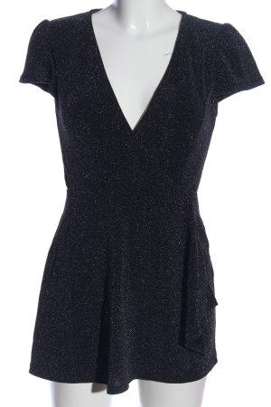 Zara Knit Jumpsuit schwarz Webmuster Casual-Look