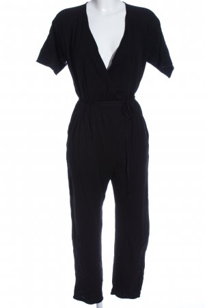 Zara Knit Jumpsuit schwarz Casual-Look