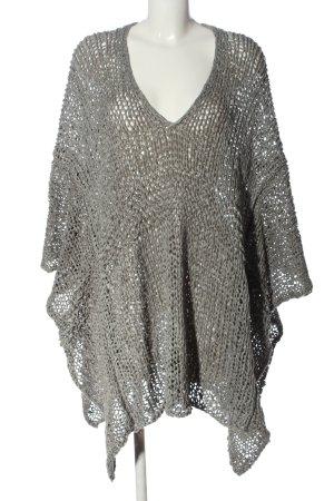 Zara Knit Jersey kimono gris claro look casual