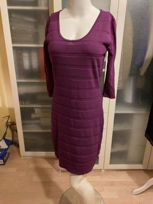 Zara Knit Kleid Gr L lila