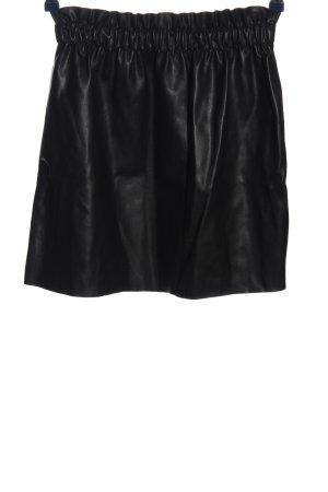 Zara Knit Jupe en cuir synthétique noir style décontracté