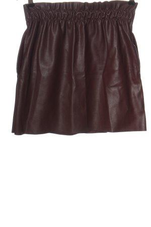 Zara Knit Jupe en cuir synthétique brun style décontracté