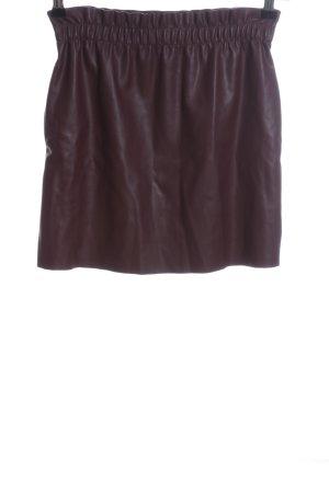 Zara Knit Kunstlederrock rot Casual-Look