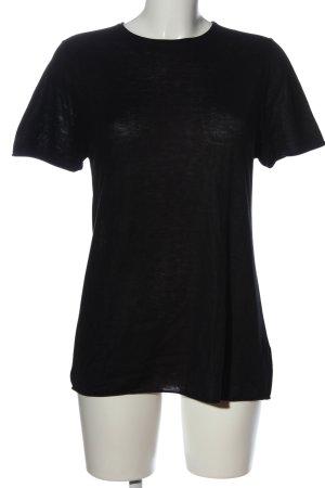 Zara Knit T-Shirt schwarz Casual-Look