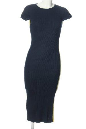 Zara Knit Kurzarmkleid blau Casual-Look