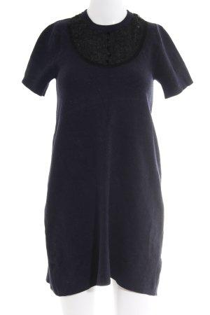 Zara Knit Kurzarmkleid dunkelblau-schwarz Casual-Look