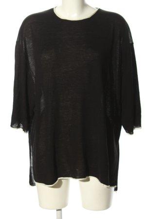 Zara Knit Sweter z krótkim rękawem czarny W stylu casual