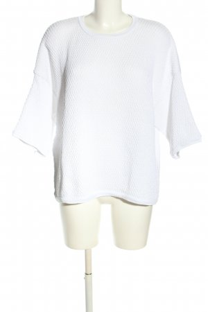 Zara Knit Short Sleeve Sweater white casual look