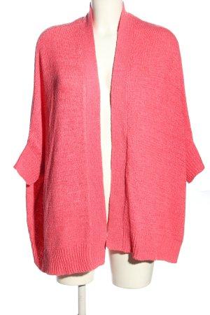 Zara Knit Cardigan à manches courtes rose style décontracté