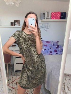 Zara Knit kuscheliges Kleidchen im Leoprint M/38