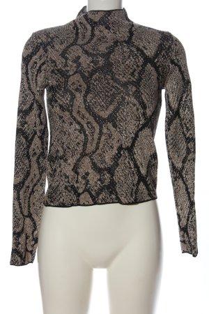 Zara Knit Langarm-Bluse mehrfarbig Casual-Look