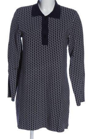 Zara Knit Longsleeve Dress black-light grey allover print casual look
