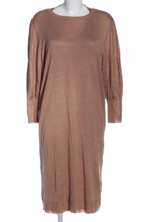 Zara Knit Langarmkleid braun Casual-Look
