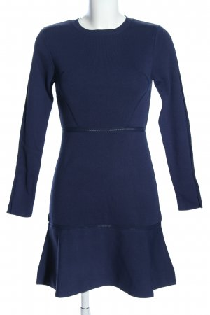 Zara Knit Langarmkleid blau Business-Look