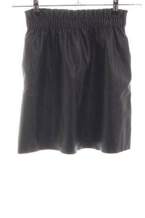 Zara Knit Jupe en cuir noir style décontracté