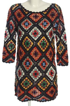 Zara Knit Blouse longue imprimé allover style décontracté