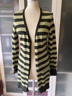 Zara Knit Cappotto a maglia giallo lime-nero