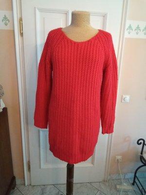 Zara Knit Oversized Sweater brick red