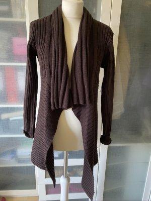Zara Knit Cardigan dark brown cotton