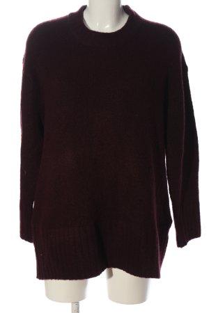Zara Knit Longpullover rot Casual-Look