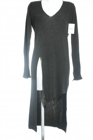 Zara Knit Longpullover dunkelgrau Casual-Look
