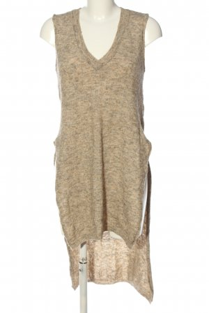 Zara Knit Długi sweter bez rękawów brązowy Melanżowy W stylu casual