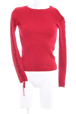 Zara Knit Longsleeve rot Casual-Look