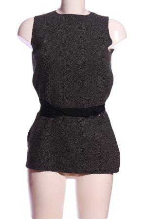 Zara Knit Gebreide top zwart-lichtgrijs gestippeld casual uitstraling