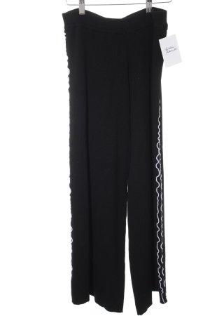 Zara Knit Pantalone palazzo nero-bianco