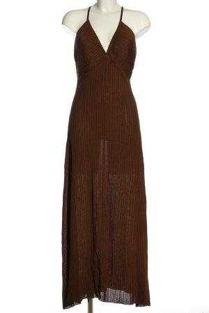 Zara Knit Maxikleid braun Casual-Look