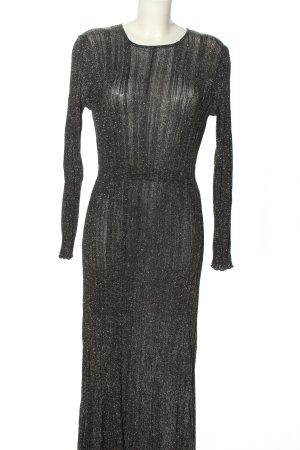 Zara Knit Maxikleid silberfarben Casual-Look