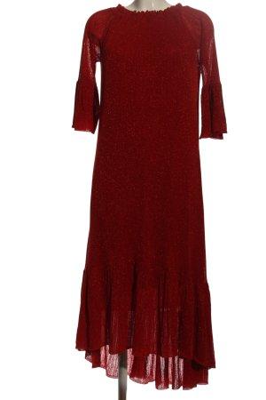 Zara Knit Maxikleid rot Elegant