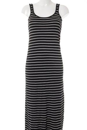 Zara Knit Maxikleid schwarz-weiß Streifenmuster