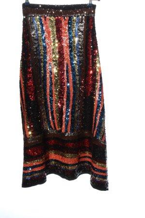Zara Knit Maxi Skirt blue-red graphic pattern elegant