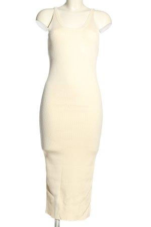 Zara Knit Midikleid creme Casual-Look
