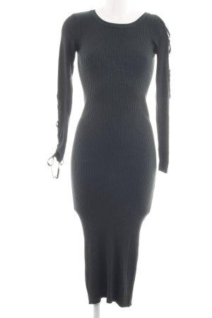 Zara Knit Midikleid schwarz Casual-Look