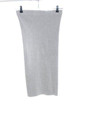 Zara Knit Gonna midi grigio chiaro puntinato stile casual