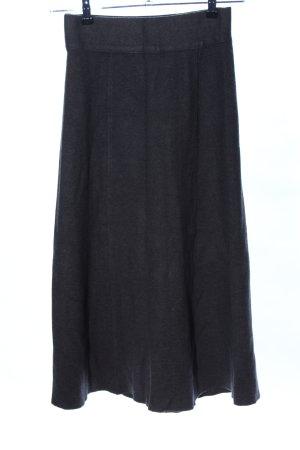 Zara Knit Midirock schwarz Casual-Look