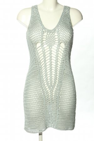 Zara Knit Minikleid hellgrau Casual-Look