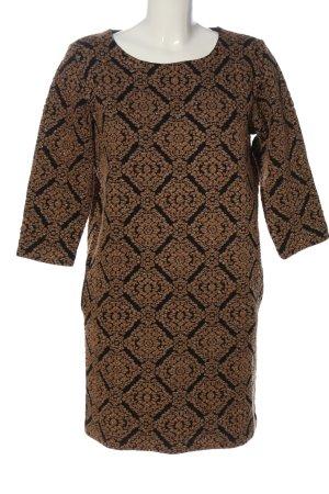Zara Knit Minikleid schwarz-braun Casual-Look