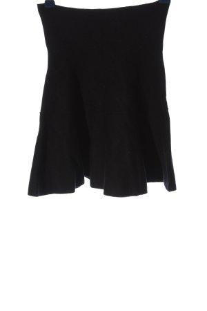 Zara Knit Minirock schwarz Casual-Look
