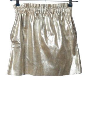 Zara Knit Minirock hellgrau Casual-Look